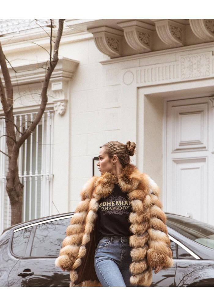 Fur jacket of fox Pamela