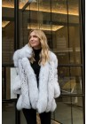 Fur jacket of blue fox Zaira