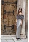 Estola elástica de piel de zorro Emma Bridal Collection