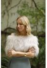 Estola elástica de piel de zorro Donna Bridal Collection