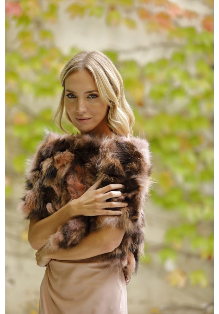 Fur Jacket of raccoon Lille Bridal Collection
