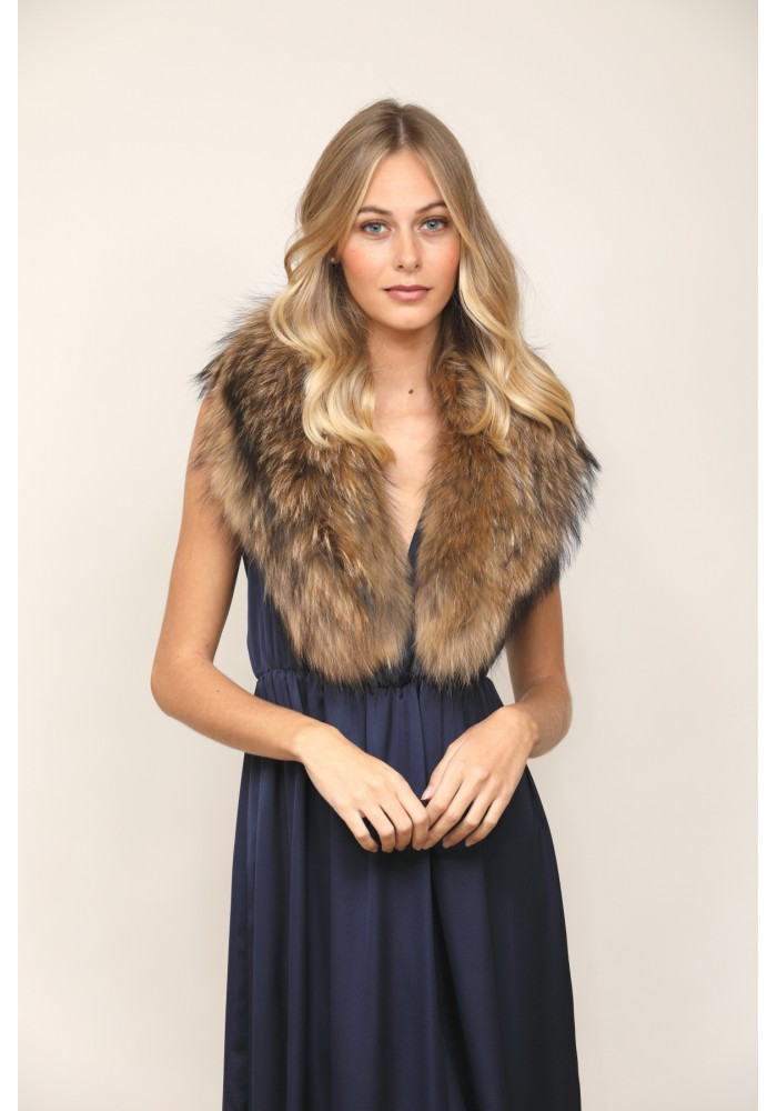 Fur stole of raccoon Alex Bridal Collection