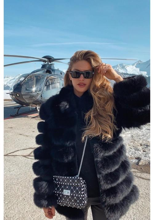 Fur jacket of fox Caroline