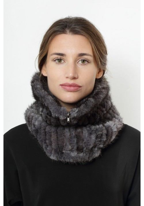 Fur collar of knitted mink Selena